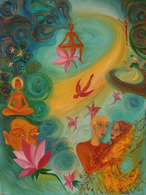 love, divine, meditation, peace,loving expressions,ART_1348_11387,Artist : Megha Verma,Oil