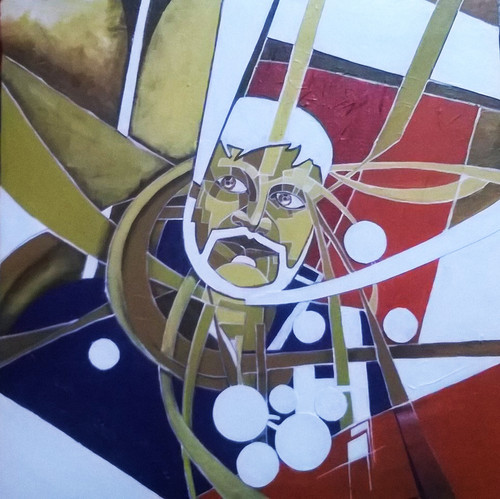 self, realization, human mind, ideas, portrait, ,Intricacies,ART_1345_11369,Artist : Anirban Guha,Acrylic
