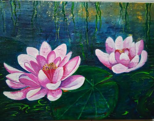 ,lotus,ART_1243_11386,Artist : Ujwala Chavan,Acrylic