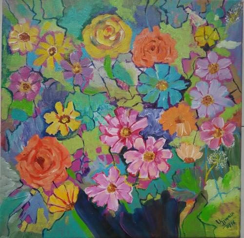 ,flowers,ART_1243_11353,Artist : Ujwala Chavan,Acrylic
