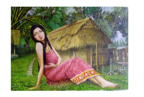 North East girl,A Girl from Manipur,ART_479_7123,Artist : LOSO A PAO,Oil