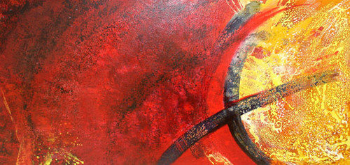 decorative abstract painting,red abstract,ART_1367_11468,Artist : KHUSH MALI,Acrylic