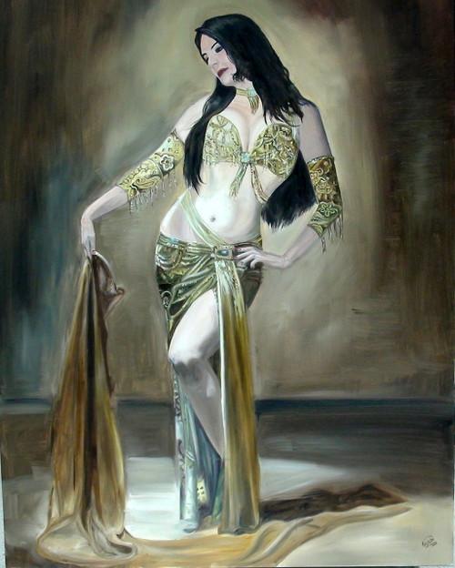 LADY, DANCE, BEAUTY, POISE,THE BEAUTY,ART_1372_11500,Artist : PRIYANKA SATARKAR,Oil