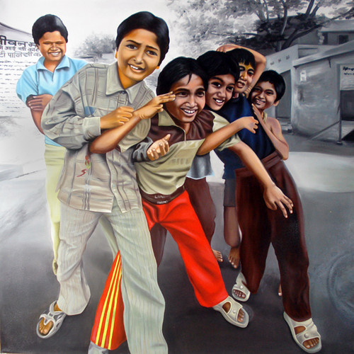 Oil on Canvas,Indian Idol,ART_1392_11620,Artist : Sanchit Raj,Oil