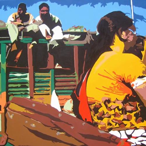 Acrylic on Canvas,Untitled,ART_1392_11618,Artist : Sanchit Raj,Acrylic