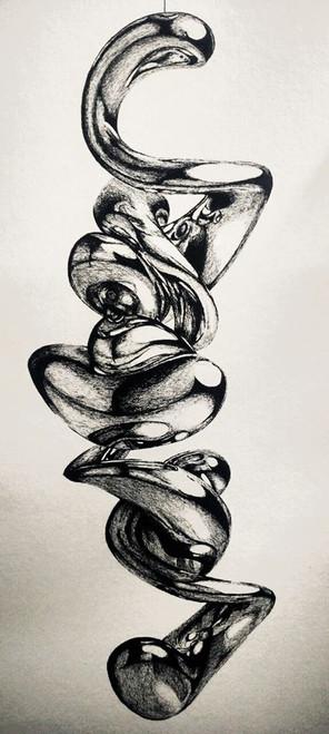 pen on paper,Nearco Lamp,ART_1392_11615,Artist : Sanchit Raj,Ink