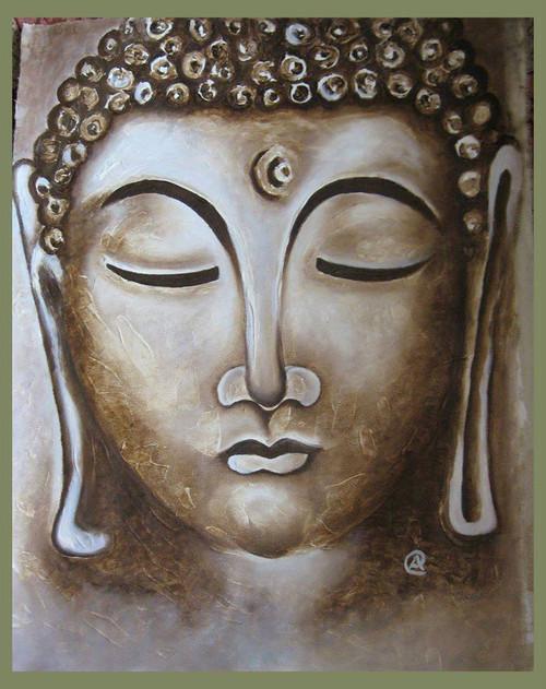 Buddha,Buddha3,ART_1385_11628,Artist : Chitra Ariram,Oil