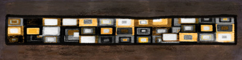 Peeps - 64in X 16in,26Square22_6416,Black, Dark Shades,160X40 Size,Modern Art Art Canvas Painting