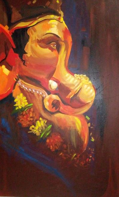 ,Ganesh Festival,ART_138_6899,Artist : Ila Mishra,Acrylic