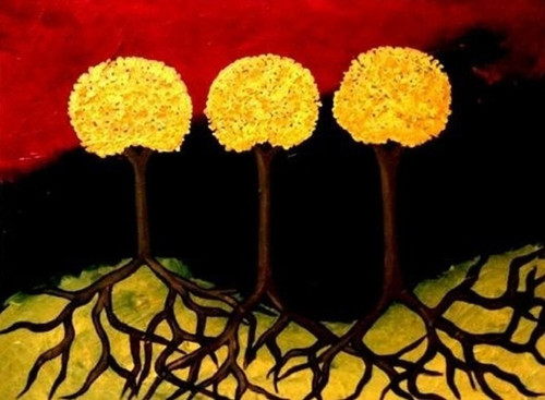 tree,contemporary,24*30 - Tree 1,ART_571_8754,Artist : Madhavi Sandur,Acrylic