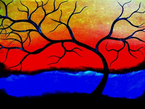 tree,contemporary,24*30 - Tree 2,ART_571_8753,Artist : Madhavi Sandur,Acrylic