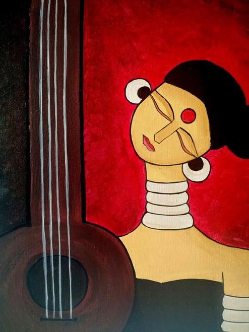 ,Meera,ART_571_7367,Artist : Madhavi Sandur,Acrylic