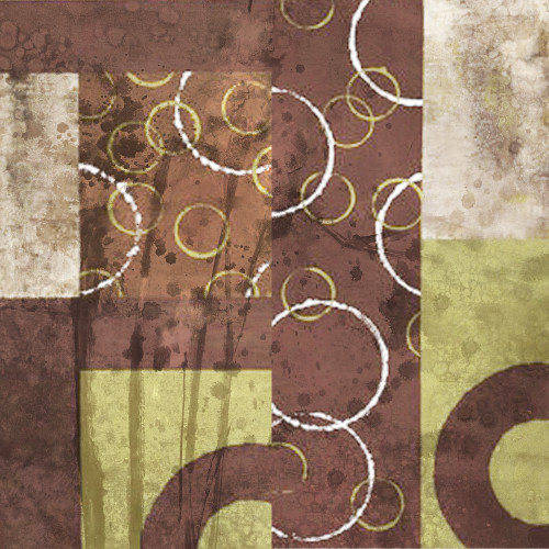 Fermana - 24in X 24in,26Circle04_2424,Yellow, Brown,60X60 Size,Modern Art Art Canvas Painting