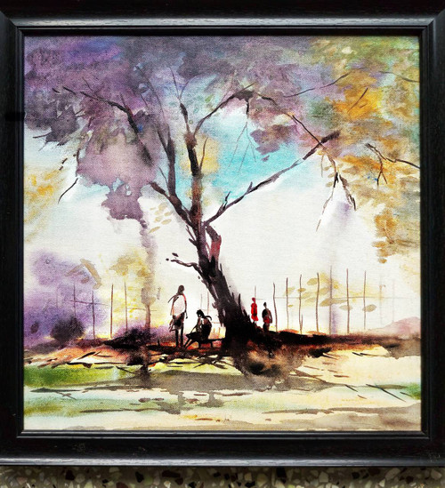 Secret, Friends, Talk, Romance, Love, Park, Cool,A talk,ART_208_6690,Artist : Surya Vamshi,Acrylic