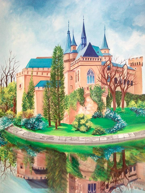 fort,castle,,The Dream castle,ART_889_4646,Artist : Harpreet Kaur,Acrylic