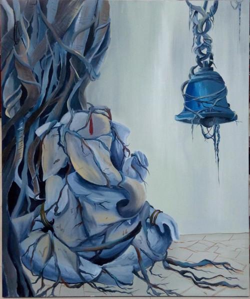,sadhu Ganesha,ART_138_7598,Artist : Ila Mishra,Acrylic