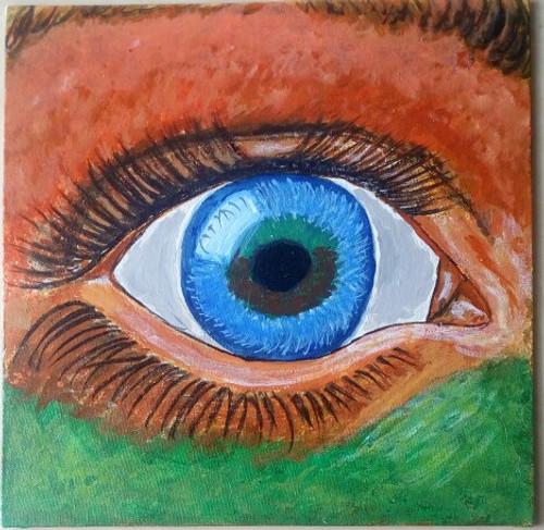 India, Indian, Eye,Indian Eye,ART_1416_11758,Artist : Ananth Mahadevan,Acrylic