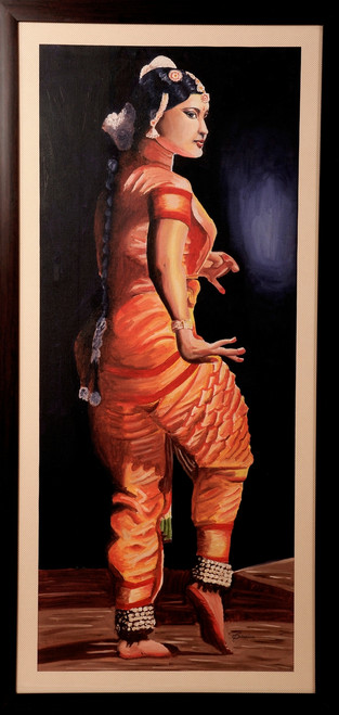 Potrait, Classical dance, music, oil painting,CLASSICAL DANCE OF INDIA,ART_1455_11980,Artist : SNEHA SNEHA,Oil