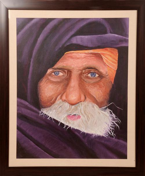 Potrait, Rajasthani lady, oil painting,Eyes of Rajasthan,ART_1455_11970,Artist : SNEHA SNEHA,Oil