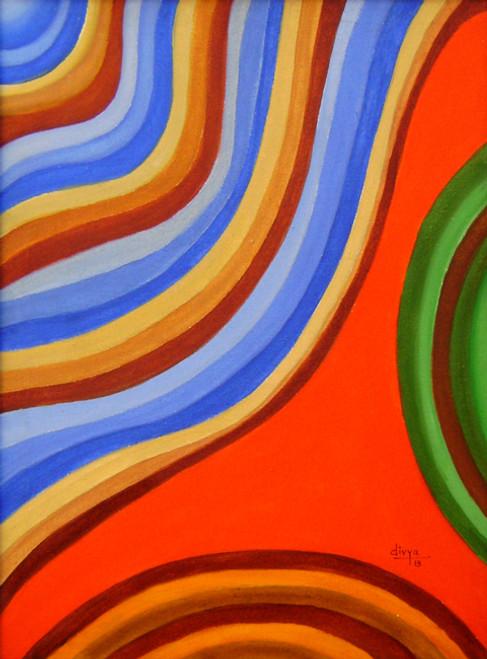 Abstract, Waves,Illusion,ART_1462_11952,Artist : Divya Kakkar,Acrylic