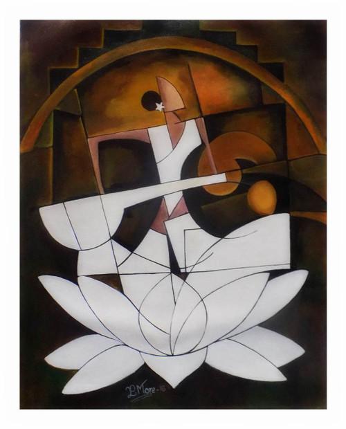 figurative ,MAA SARASWATI,ART_1033_7304,Artist : PARESH MORE,Acrylic