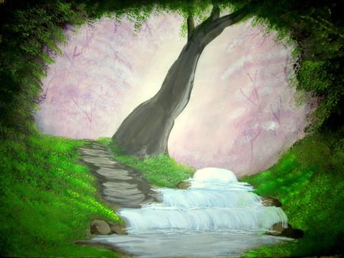 ,beautiful forest Art24071,ART_1456_12017,Artist : Harshit Garg,Water Colors