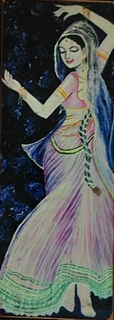 Girl,Women,Dancing,Dancing Girl,ART_1454_11958,Artist : Sudha  Sharma,Oil