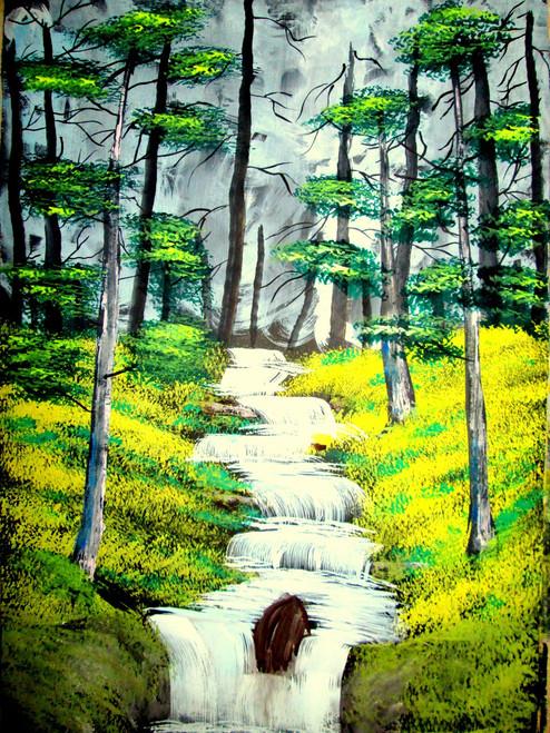 ,beautiful waterfall,ART_1456_11932,Artist : Harshit Garg,Water Colors