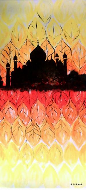 Modern art ,the TAJ,ART_1499_12168,Artist : Ashna Ralh,Acrylic