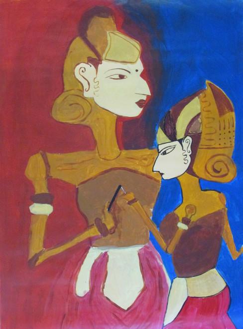 ,Puppet and Puppet Self (20 x 28 inch),ART_88_7006,Artist : Thiruvikraman Ramadoss,Acrylic
