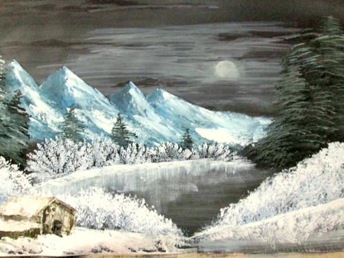 ,Winter moon art240711,ART_1456_12175,Artist : Harshit Garg,Water Colors