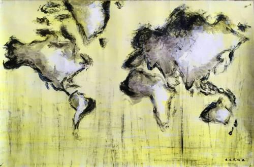 World map,Everdiscovering,ART_1499_12169,Artist : Ashna Ralh,Acrylic
