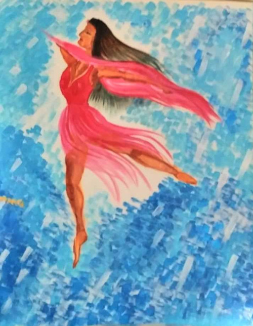 Dance, Abstract Figurative,dance,ART_1337_12172,Artist : HEMANGI GAWAND,Acrylic