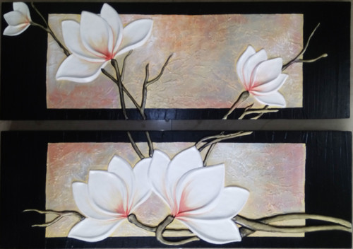 ABSRTACT FLORL PAINTING,ABSTRACT FLORAL MURAL F-91A,ART_1265_12012,Artist : DARSHANA MUTHA,Acrylic
