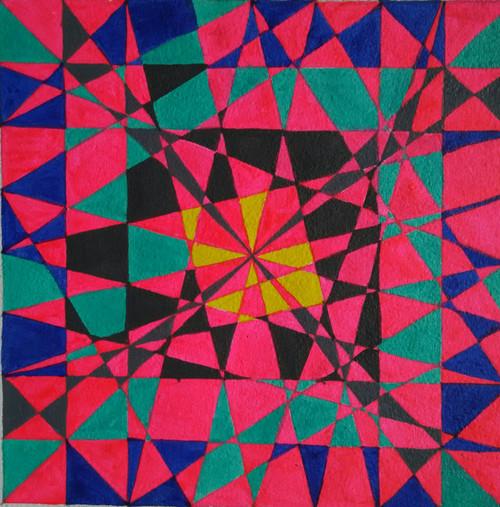 ,Geometric design,ART_1243_12254,Artist : Ujwala Chavan,Acrylic