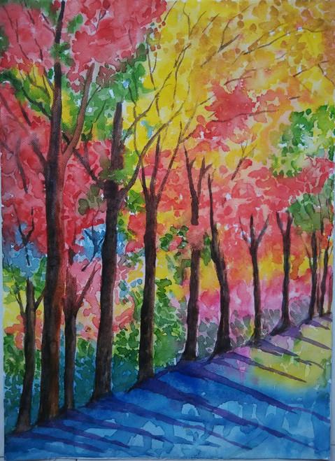 ,Autum,ART_1243_12253,Artist : Ujwala Chavan,Water Colors
