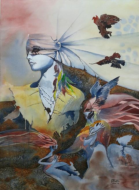 ,22x30 - Blind Flight,ART_558_8685,Artist : BHAVIN MEHTA,watercolour