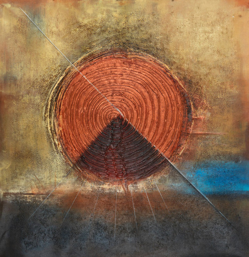 Spiral abstract,orange abstract,triangle abstract paintings,Spiral Triangle Abstract,FR_1523_12361,Artist : Community Artists Group,Acrylic