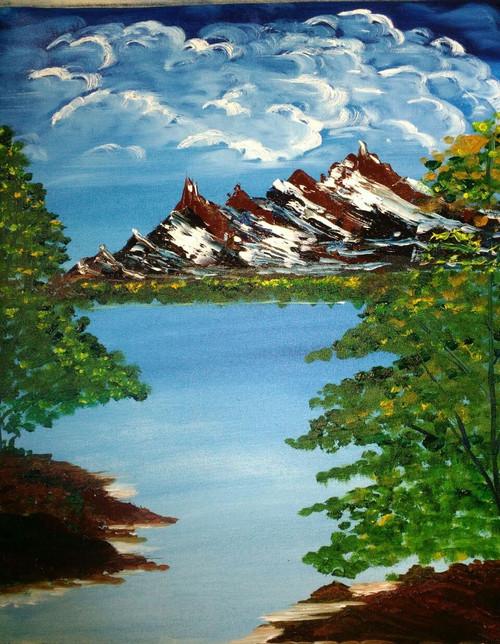 Nature, Beauty, sceanic,Nature mountain,ART_1337_12312,Artist : HEMANGI GAWAND,Oil