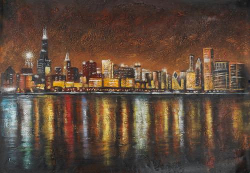 citylight paintings,dubai paintings,city life paintings,city at night paintings,Citylights,FR_1523_12387,Artist : Community Artists Group,Acrylic