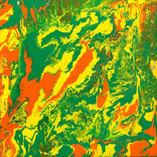 fluidic art, abstract painting,Mother Earth Fluidic Art,FAS_1540_12404,Artist : Fizdi Art Studio,Acrylic