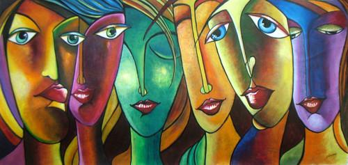 People and Figure, Modern Art, Original painting, 100% handcrafted , Authentic,Attitudes,ART_1140_13182,Artist : Mrs Neeraj Parswal,Acrylic