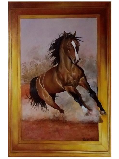 The Galloping horse,The Galloping Horse,ART_479_12310,Artist : LOSO A PAO,Acrylic
