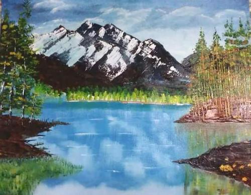 Nature, Beauty, sceanic,mountain,Nature mountain -,ART_1337_13258,Artist : HEMANGI GAWAND,Oil