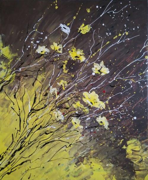 ,YELLO FLORA,ART_1180_13310,Artist : Vrushali A Kamthe,Acrylic