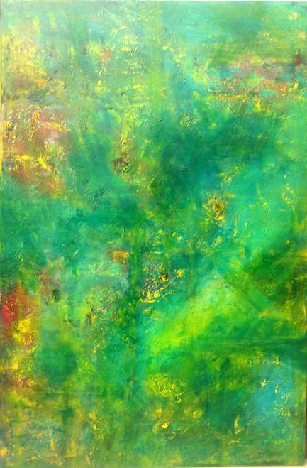garden, mind, nature,peace,calm,textured,Secret Garden,ART_1567_13299,Artist : Rupali B,Acrylic