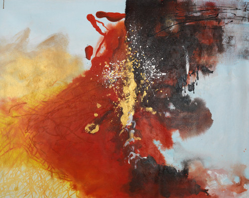 Colorful abstract paintings,beautiful abstract paintings,Infinite Deep Colorful Abstract,FR_1523_13332,Artist : Community Artists Group,Oil