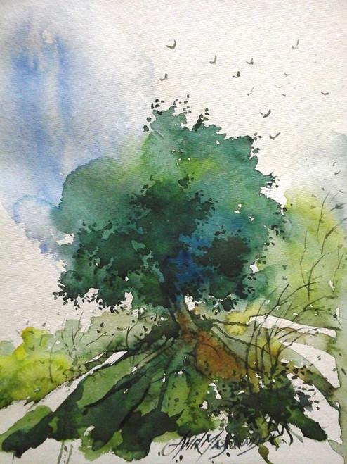 ,Blissful Morning 1,ART_910_9766,Artist : Amit Mazumder,water Color
