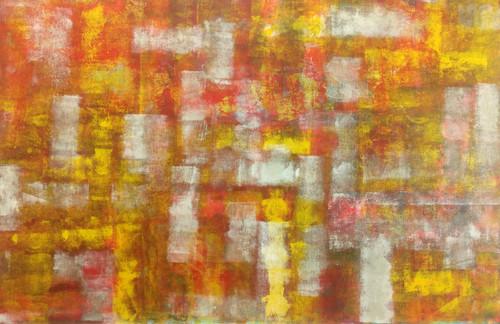 red, shades, yellow, depths, abstract,Withdrawal,ART_1567_13300,Artist : Rupali B,Acrylic