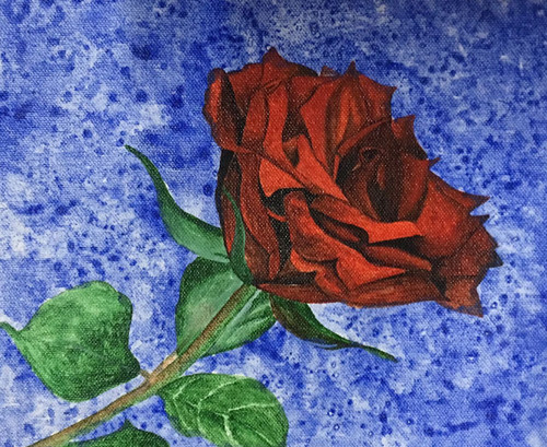Rose, Flower,Rose,ART_1581_13373,Artist : Susmitha Koduri,Acrylic